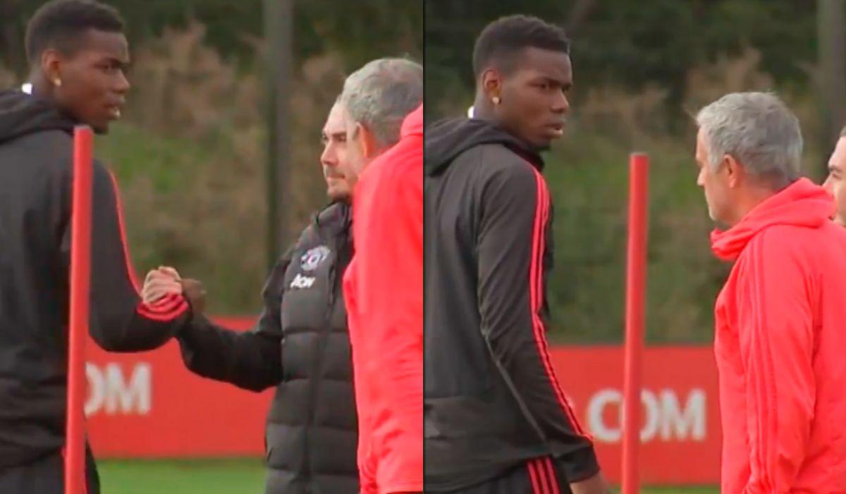 Tensión entre Pogba y Mourinho