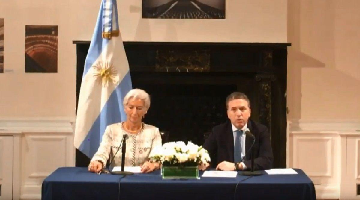 El ministro de Hacienda junto a la Titular del FMI