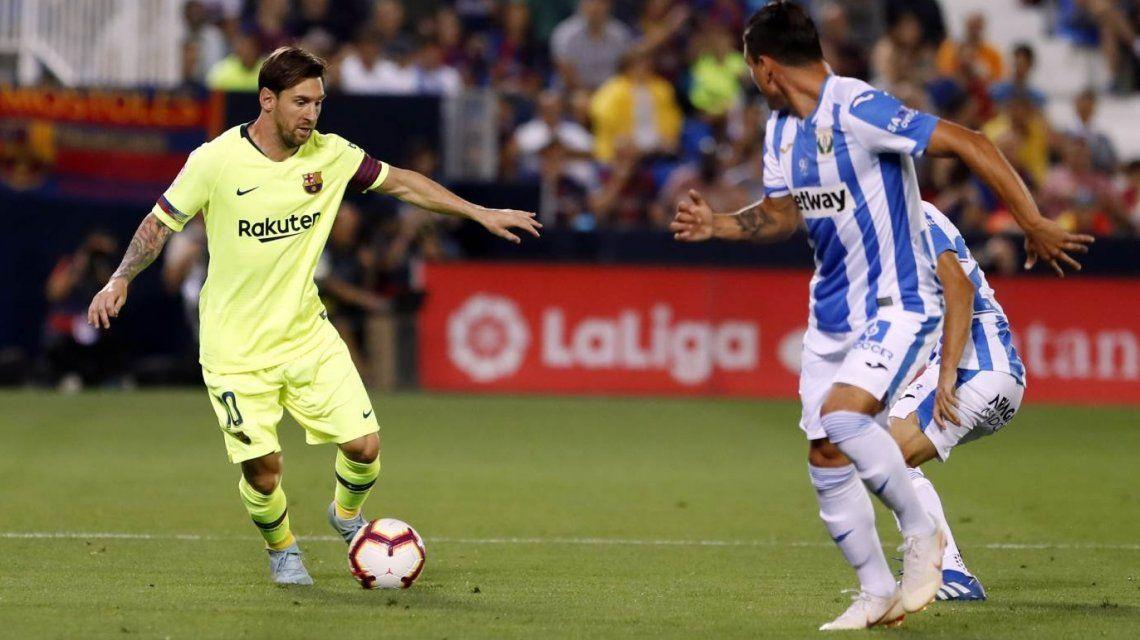 El argentino no pudo desequilibrar (Foto: @FCBarcelona)