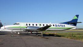 Uno de los aviones de SAPSA que hacen vuelos charter