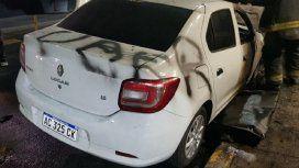 Los caza Uber destruyeron cinco autos en Almagro