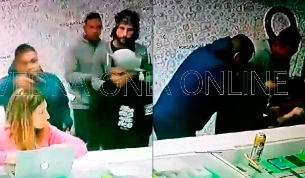Violento asalto a un local de celulares en Saavedra