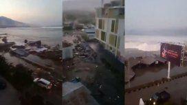 Terremoto seguido de tsunami en Indonesia