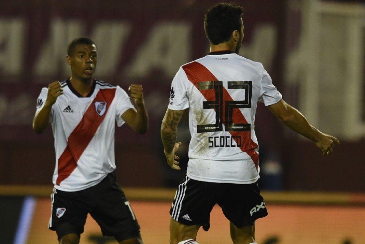 Gol de Scocco para River - Crédito:@CARPoficial