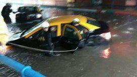 Granizo, calles anegadas y fuertes lluvias en la Ciudad y la Provincia de Buenos Aires
