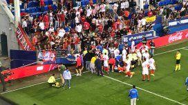 Una tribuna se desplomó en medio del festejo por el gol de Banega