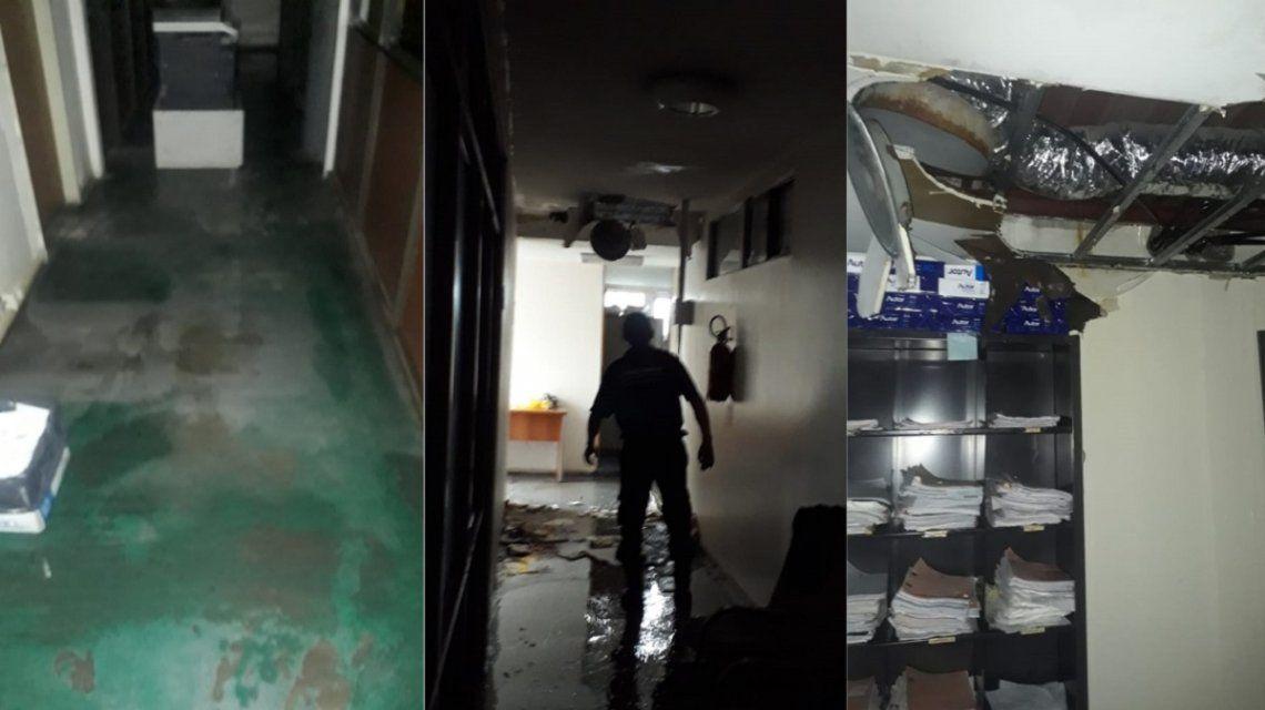 Cayó parte del techo en la Fiscalía y Defensoría de Florencio Varela