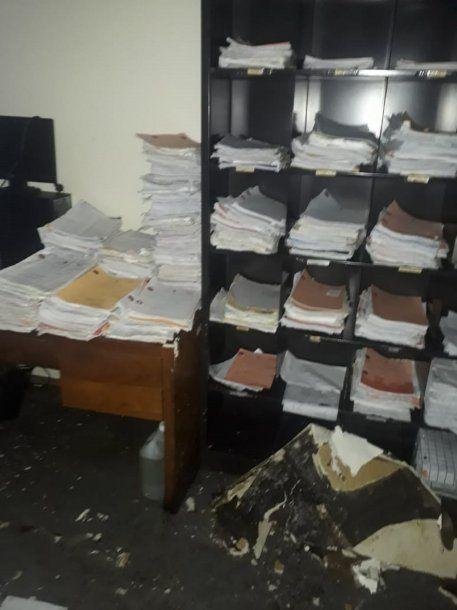 Cayó parte del techo en la Fiscalía y Defensoría de Florencio Varela<br>