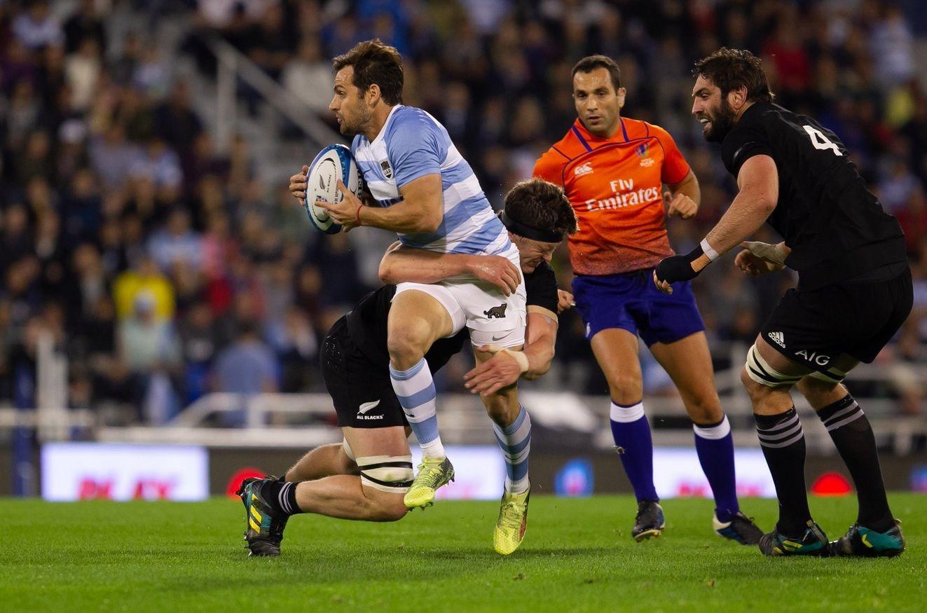 Los Pumas contra los All Blacks en el Rugby Championship - Crédito: Gaspafotos/UAR