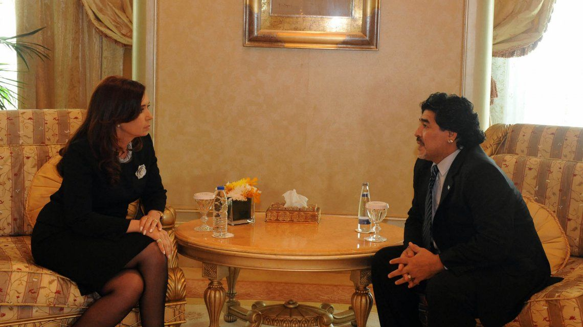 Diego Maradona: Yo iría a una fórmula con Cristina Kirchner