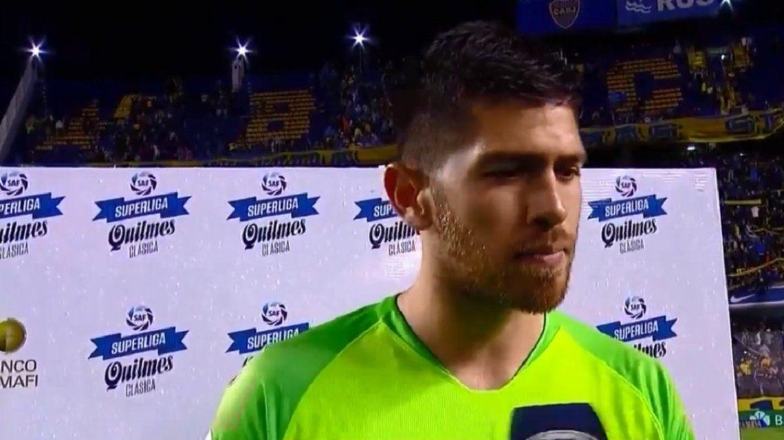 Atajadas y ovación para Agustín Rossi en la victoria de Boca sobre Colón