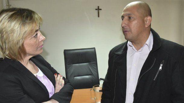 La jueza Marta Yáñez y Rubén Darío Espínola