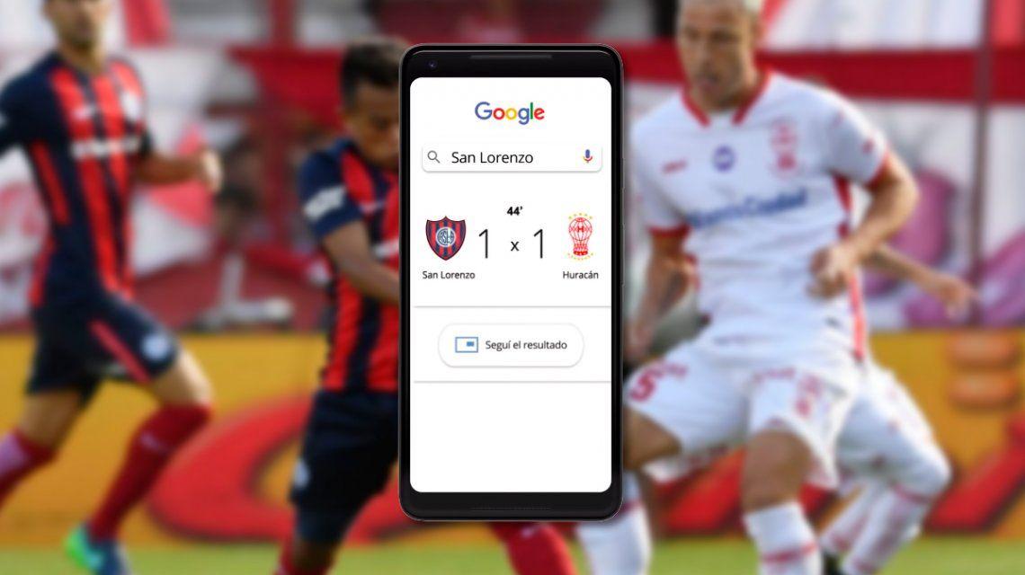 Ya podés seguir los resultados de los partidos de los equipos argentinos en tiempo real con Google