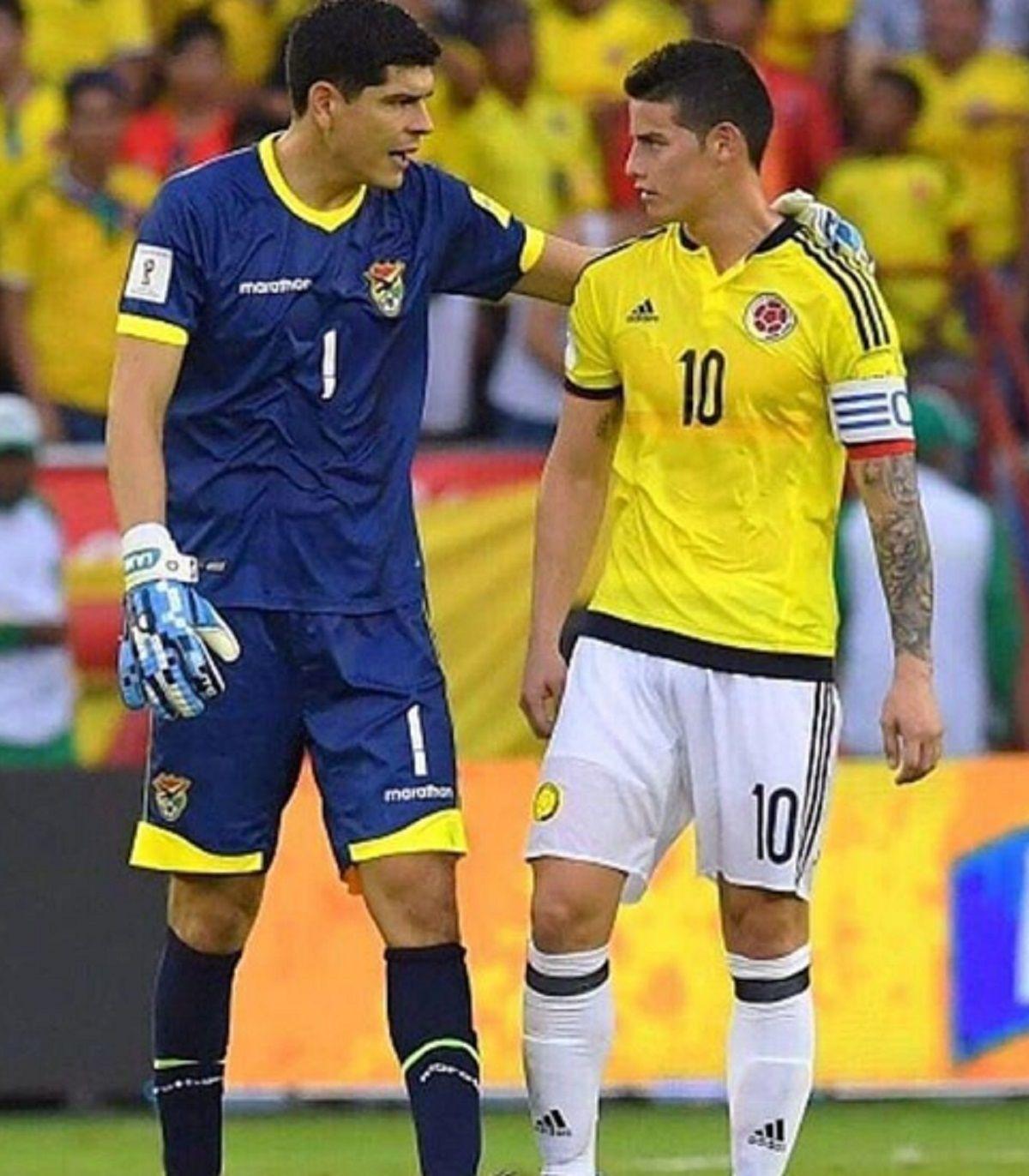 El boliviano junto a James Rodríguez