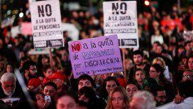 Ajuste en discapacidad: una multitud marchó al Congreso en rechazo al brutal recorte