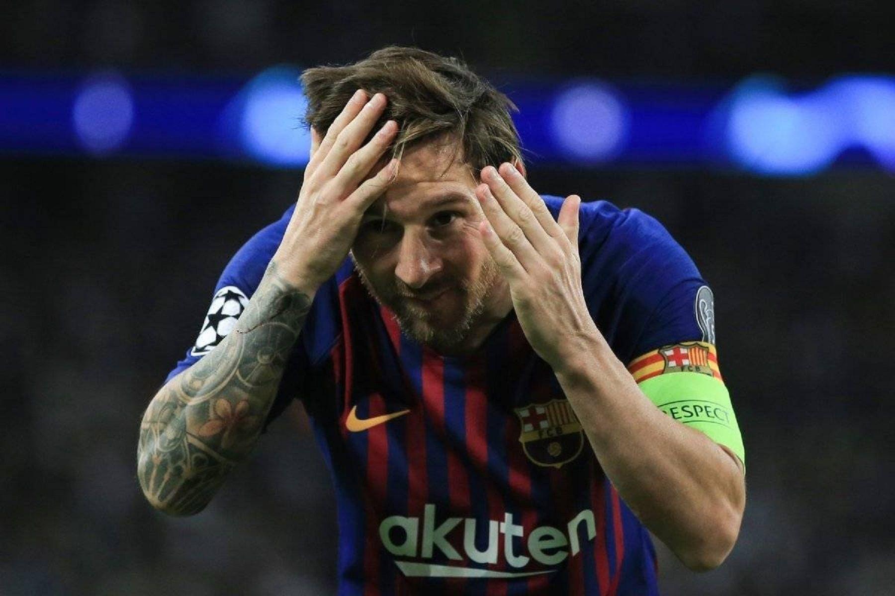 ¿A quién se lo dedicó? La extraña celebración de Messi tras marcar el tercer gol de Barcelona