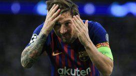 ¿A quién se lo dedicó? La celebración de Messi tras marcar el tercer gol de Barcelona