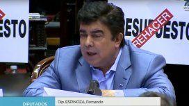 Espinoza a Marcos Peña: Sufrir es un sentimiento, pero mentir es un pecado