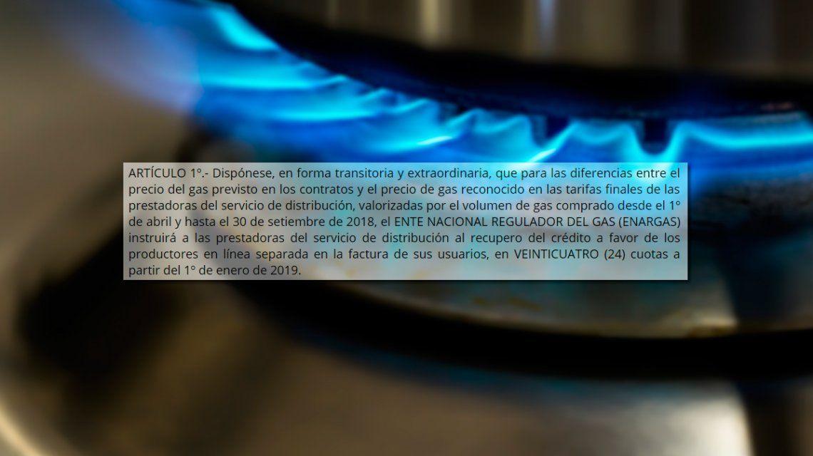 La oposición se une en Diputados para frenar el pago extra del gas
