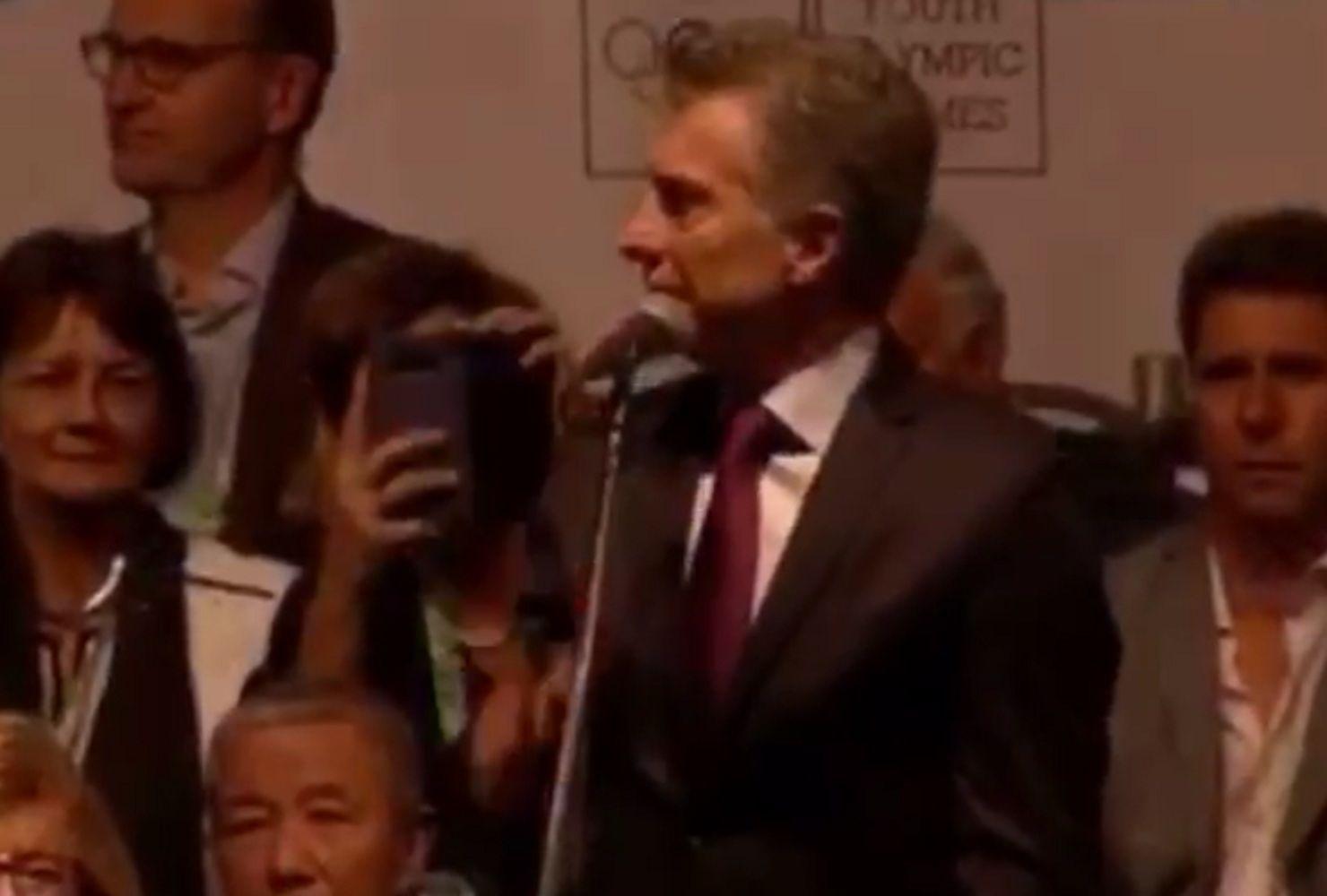 El error de Macri en la ceremonia de apertura de Buenos Aires 2018