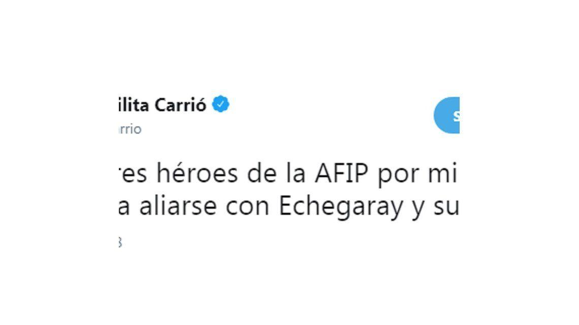 Otra grieta en el Gobierno: la AFIP salió a responderle a Carrió