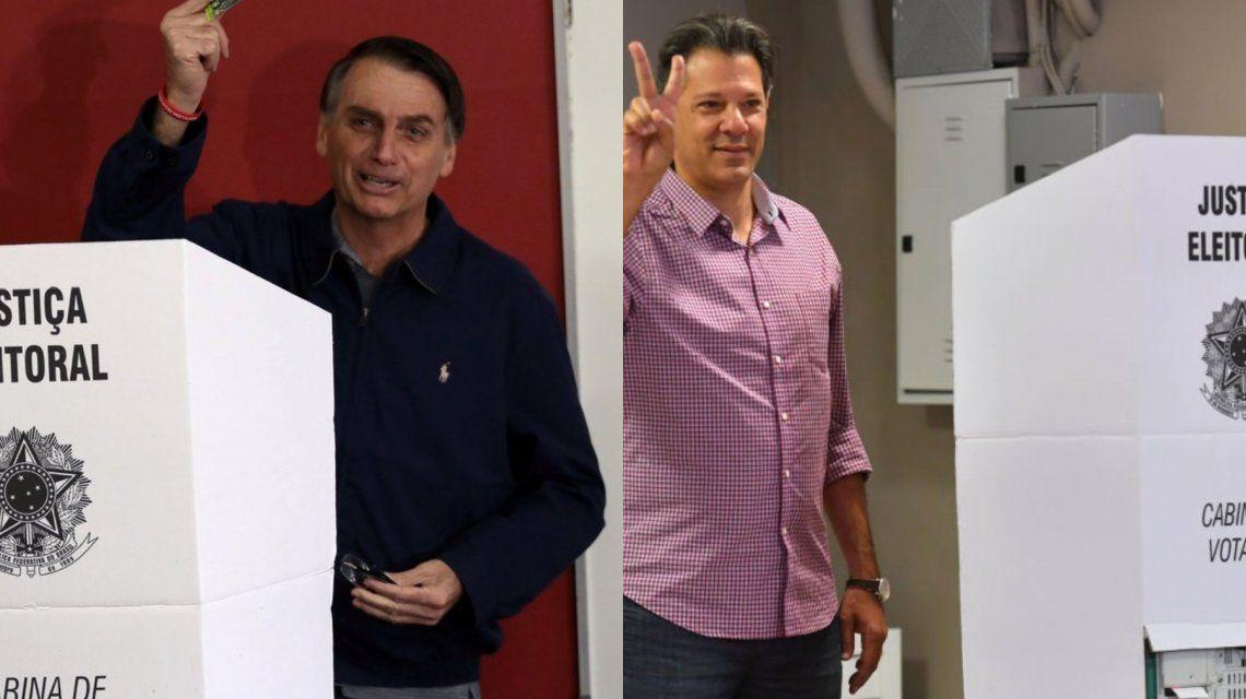 Bolsonaro y Haddad inauguran con su voto las elecciones presidenciales.