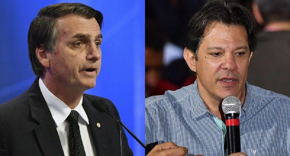 Jair Bolsonaro y Fernando Haddad.