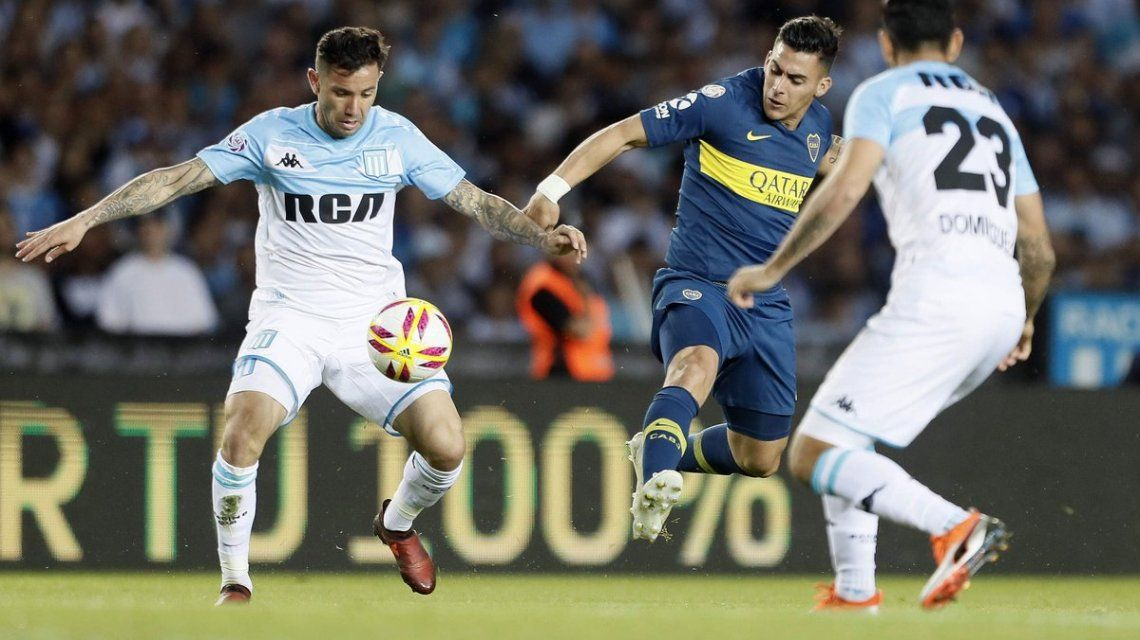 Racing vs Boca en la Superliga - Crédito: @BocaJrsOficial