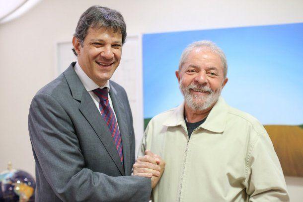 Haddad y Lula - Crédito: @ptbrasil