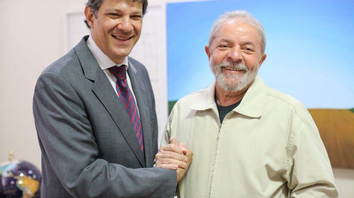 Haddad y Lula - Crédito:@ptbrasil