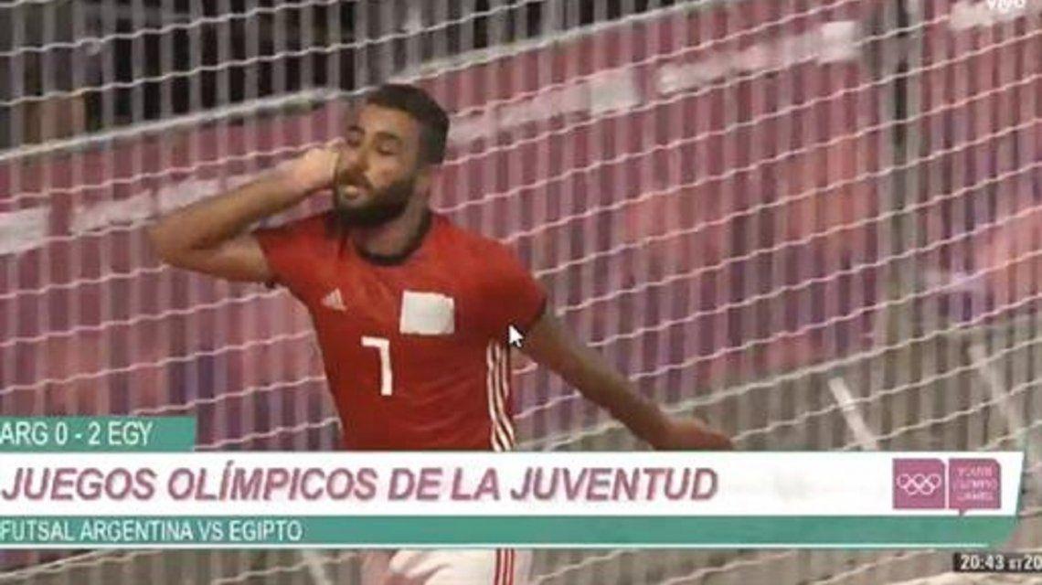 Un jugador de futsal egipcio provocó al público argentino y casi ocasiona un escándalo en el primer día de los Juegos Olímpicos