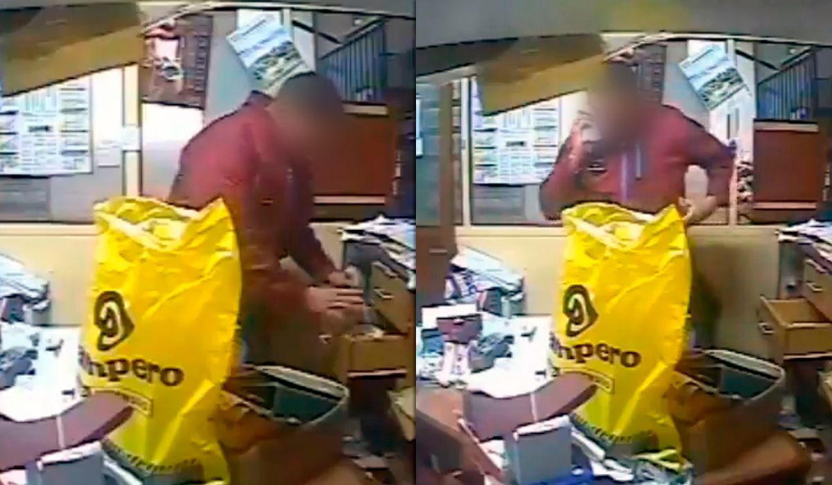 El hombre se encontraba en el local y se llevó $10 mil