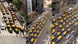 Los taxistas coparon el centro para protestar contra Uber