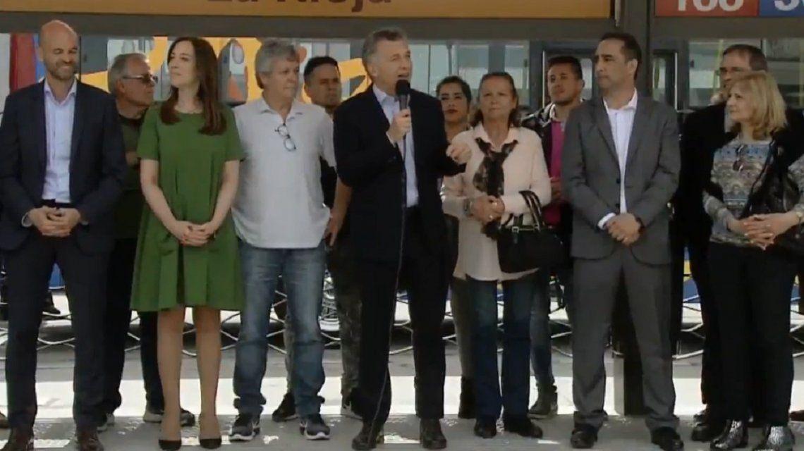 Macri, en la inauguración del Metrobus de Morón: Hay que ajustarse para llegar a fin de mes