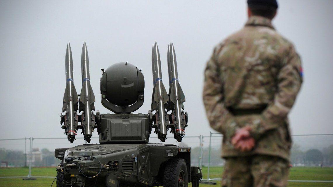 Misiles Rappier de las fuerzas británicas.