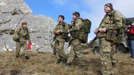 Ejercicios militares británicos en Malvinas