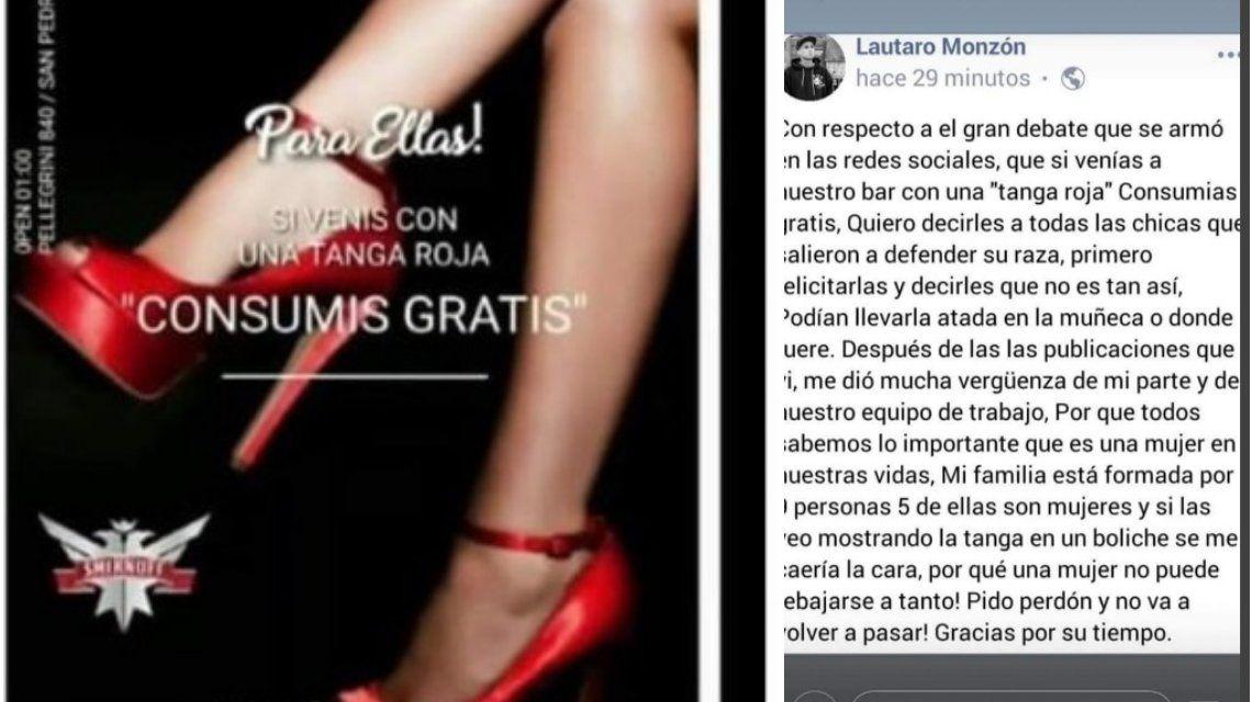 La insólita disculpa de un boliche que ofrecía tomar gratis a las mujeres con tanga roja