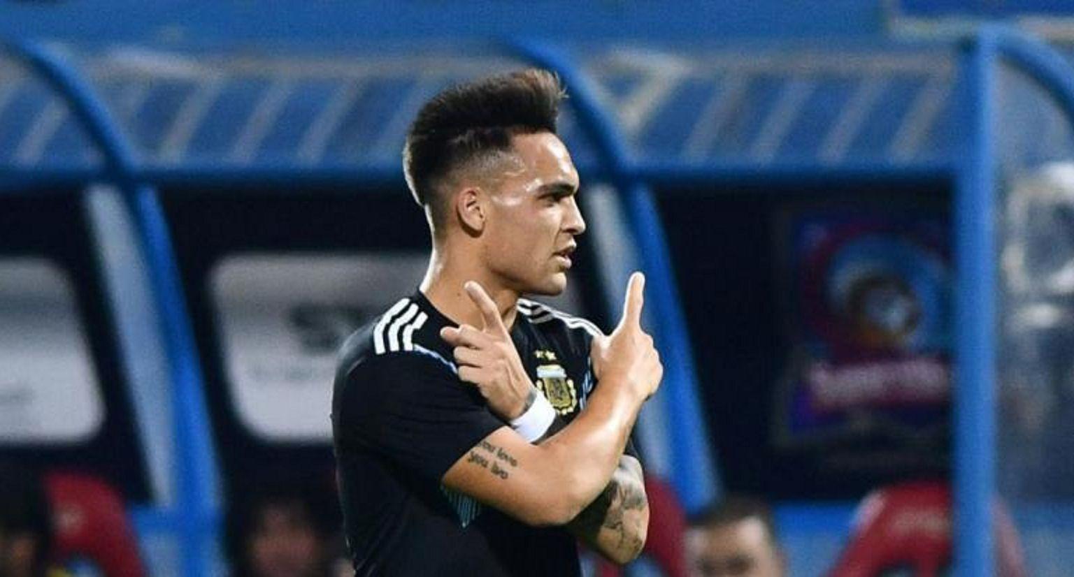 Lautaro marcó su primer gol con la Selección
