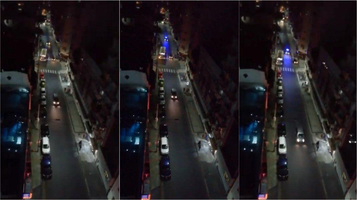 Persecución y violento tiroteo en las calles de Recoleta