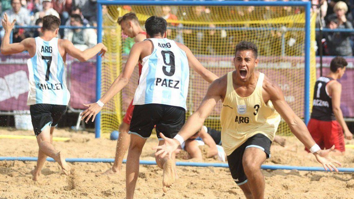 Los chicos del beach handball se quedaron con el bronce