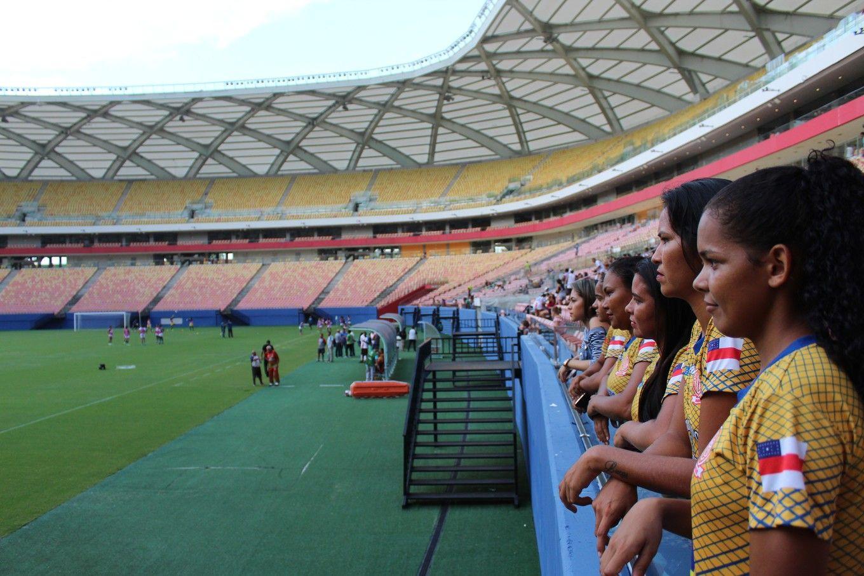 Equipo de fútbol femenino Manicoré - Crédito: Mario Dantas