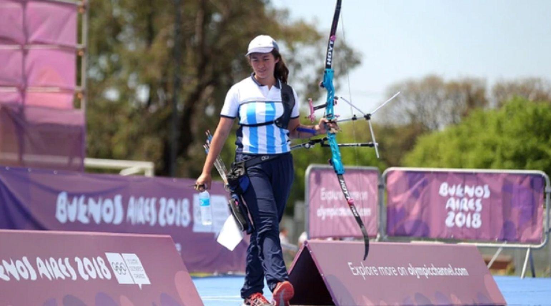 Agustina Giannasio consiguió la medalla de plata en tiro con arco mixto