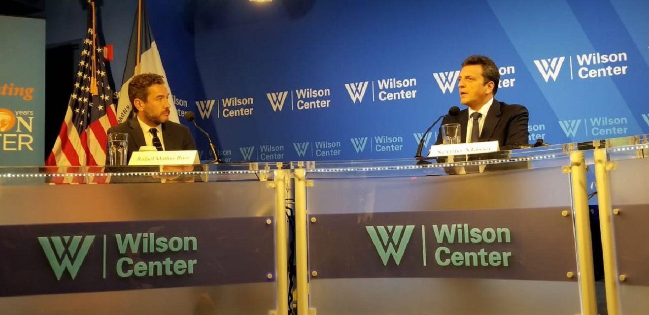Sergio Massa en elWilson Center de Estados Unidos- Crédito:@SergioMassa