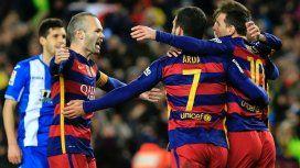 Andrés Iniesta, Arda Turan y Lionel Messi