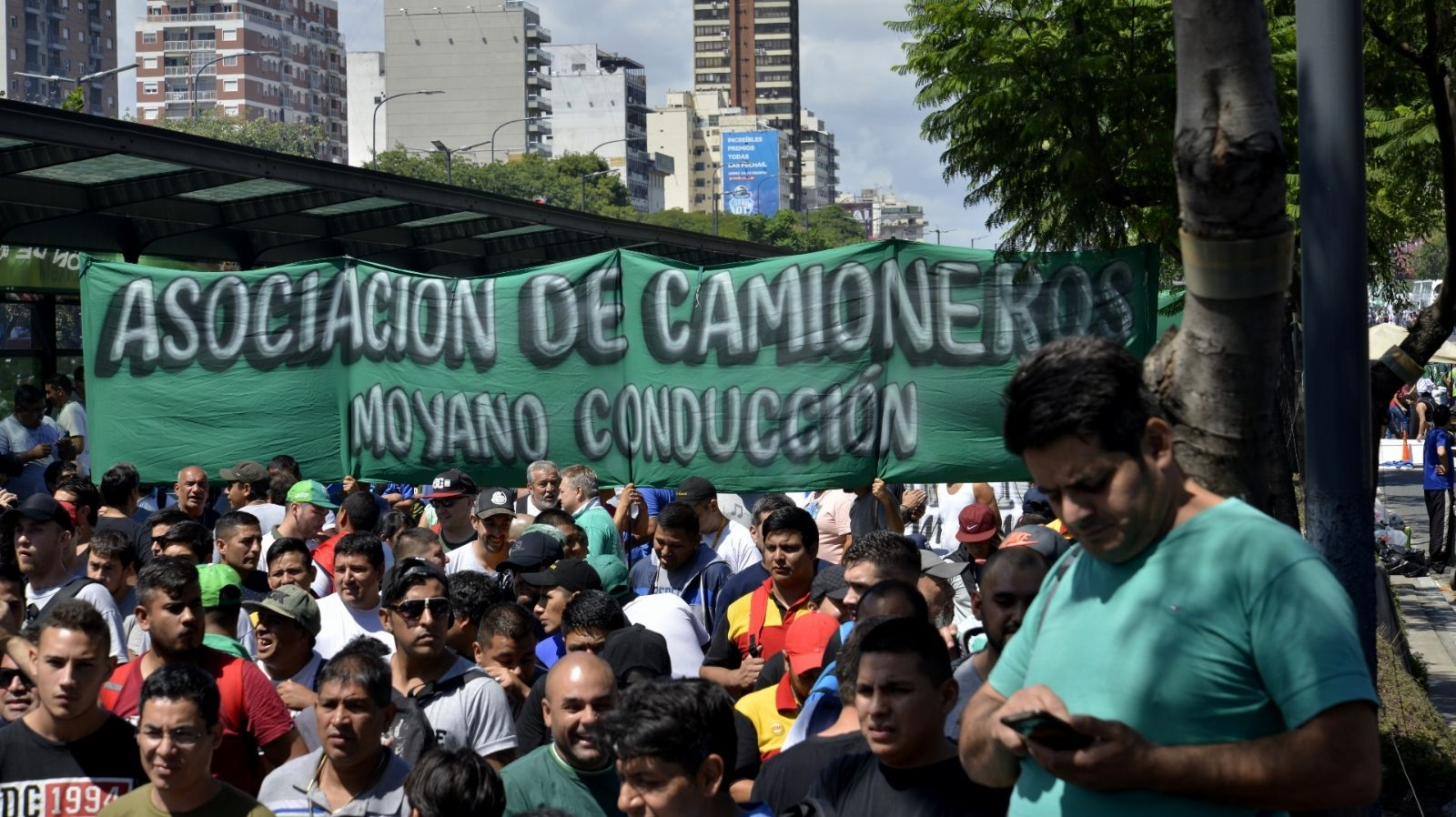 Camioneros se movilizarán por el Centro porteño