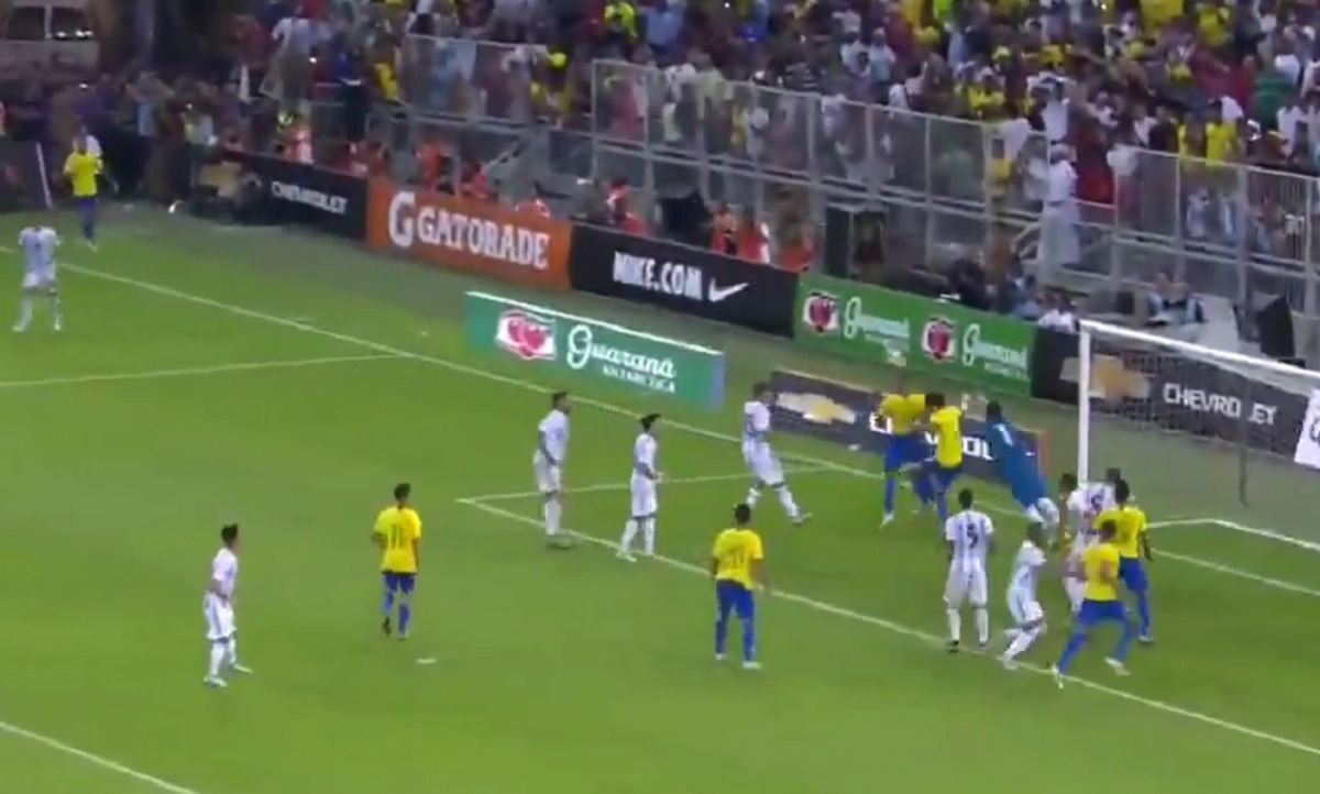 El gol de Brasil con el que le ganó a la Argentina