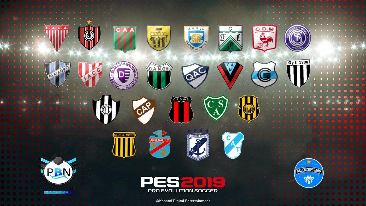 PES 2019 con la Primera B Nacional