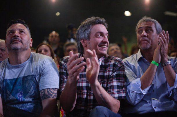 Gustavo Menéndez, Máximo Kirchner y Jorge Ferraresi<br>