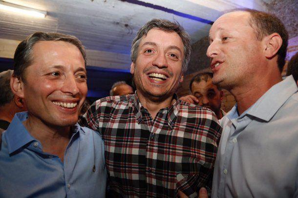 Fernando Gray, Máximo Kirchner y Martín Insaurralde<br>