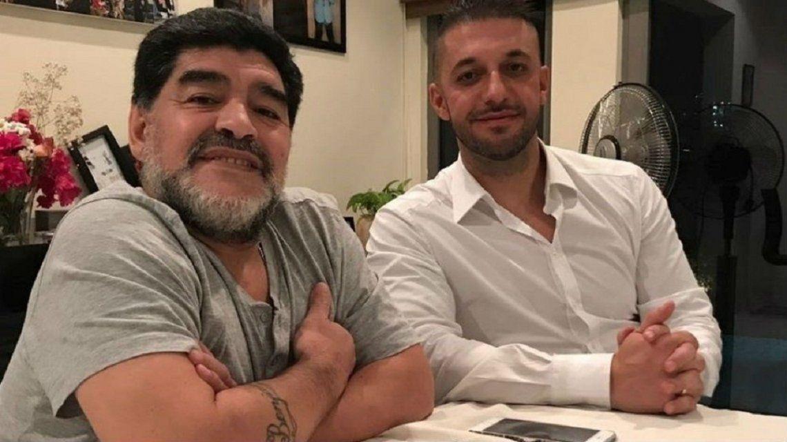 Diego Armando Maradona y Matías Morla